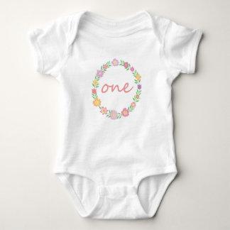 Body Para Bebê Primeiro bodysuit do aniversário