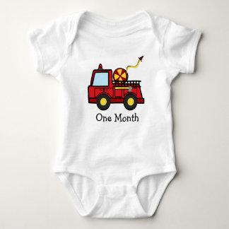 Body Para Bebê Primeiro mês do carro de bombeiros