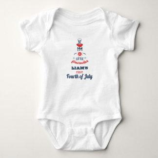 Body Para Bebê Primeiro quarto de julho, personalizado