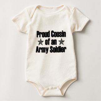 Body Para Bebê Primo orgulhoso do exército