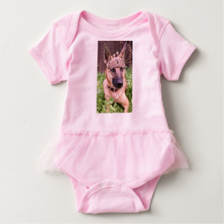 Body Para Bebê Princesa Belga Malinois Cão