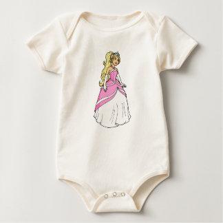 Body Para Bebê Princesa bonita na imagem cor-de-rosa dos