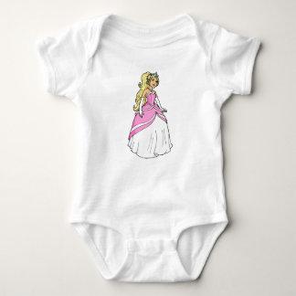 Body Para Bebê Princesa bonita no Bodysuit cor-de-rosa do jérsei