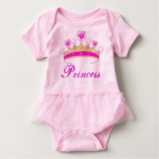Body Para Bebê Princesa cor-de-rosa bonito Tiara Bebê Tutu