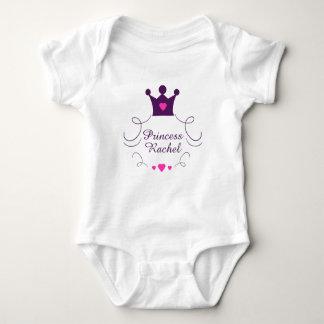 Body Para Bebê Princesa cor-de-rosa Coroa Tiara Direitos Coração