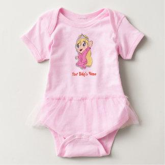 Body Para Bebê Princesa corajosa Tutu Bebê Pingamento de Chibi