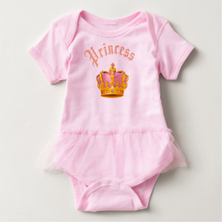 Body Para Bebê Princesa Coroa Tutu