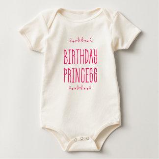 Body Para Bebê Princesa do aniversário - o primeiro aniversario