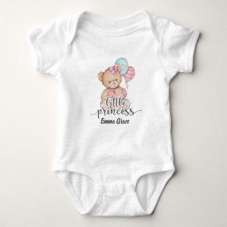 Body Para Bebê Princesa pequena Balão & bebé do urso de ursinho