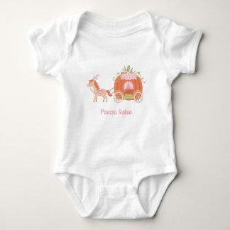 Body Para Bebê Princesa T do bebé da carruagem do cavalo e da