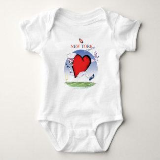 Body Para Bebê Principais de New York e coração, fernandes tony
