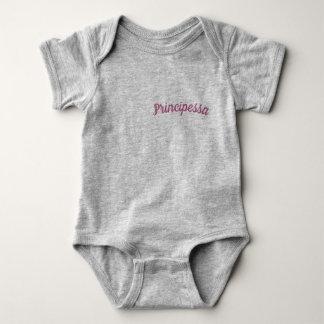 Body Para Bebê Principessa/Bodysuit da princesa bebé, cinzento