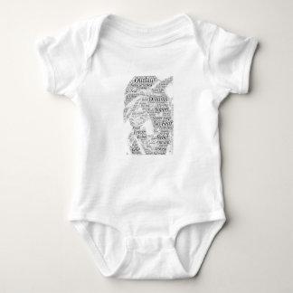 Body Para Bebê Produtos do esboço dos grafites da palavra do