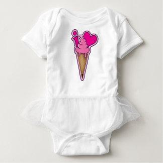 """Body Para Bebê Projete para amantes do sorvete - """"eu amo o"""