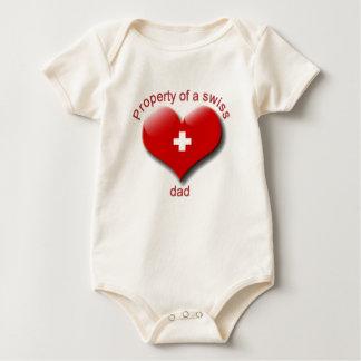 Body Para Bebê propriedade do pai suíço