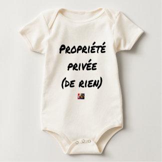 Body Para Bebê PROPRIEDADE PRIVADA - Jogos de palavras - François