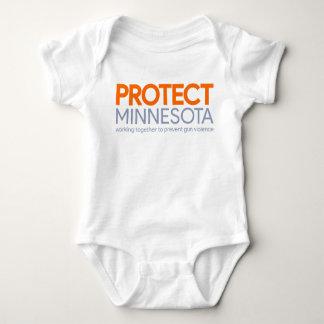 Body Para Bebê Proteja o Bodysuit da criança do logotipo de