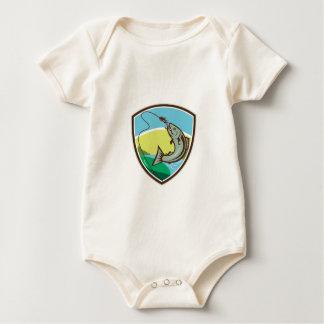 Body Para Bebê Protetor cortante da atração do gancho da truta