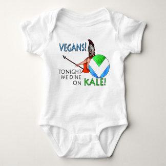 """Body Para Bebê Protetor da bandeira 300 do Vegan """"hoje à noite"""