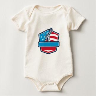 Body Para Bebê Protetor da bandeira dos EUA da chave de tubulação