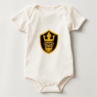 Body Para Bebê Protetor da parte dianteira do crânio de Netuno