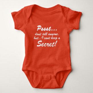 Body Para Bebê Pssst… eu não posso manter um SECRETO (branco)
