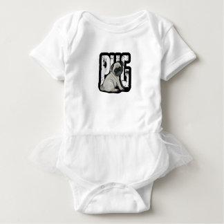 Body Para Bebê Pug