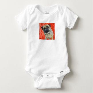 Body Para Bebê Pug 0range