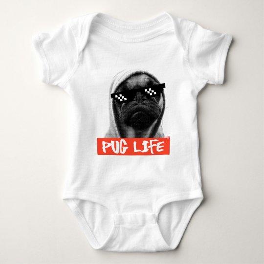 Body Para Bebê Pug Life