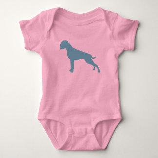 Body Para Bebê Pugilista cão teal