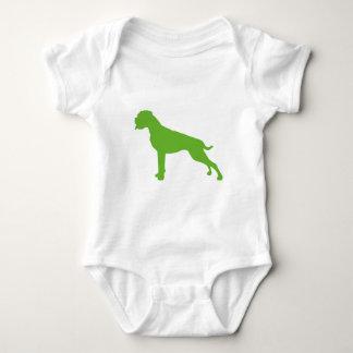 Body Para Bebê Pugilista cão verde