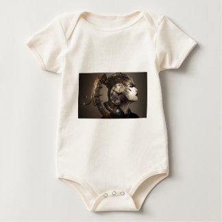 Body Para Bebê Pulso de disparo surreal do leme da mulher do