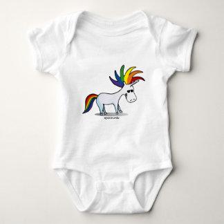Body Para Bebê Punk Unicorn - punk unicórnio