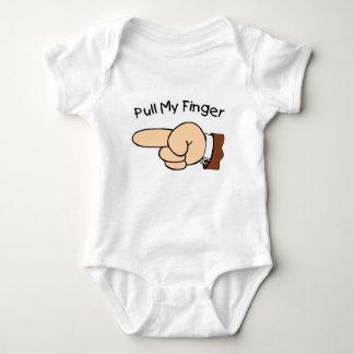 Body Para Bebê Puxe meu Creeper da criança do dedo