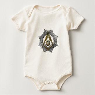 Body Para Bebê Quadrado & compasso