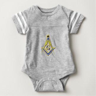 Body Para Bebê Quadrado & compassos do Freemason