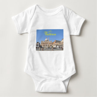 Body Para Bebê Quadrado de San Pietro no vaticano, Roma, Italia