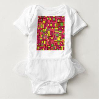 Body Para Bebê Quadrado-fundo cor-de-rosa