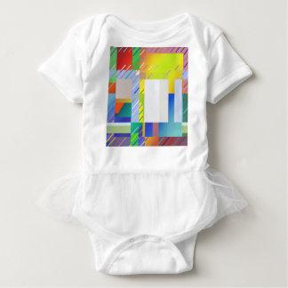 Body Para Bebê Quadrados abstratos