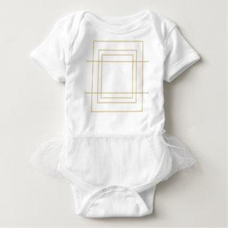Body Para Bebê Quadrados concêntricos do ouro geométrico