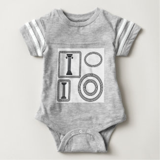 Body Para Bebê Quadro grego
