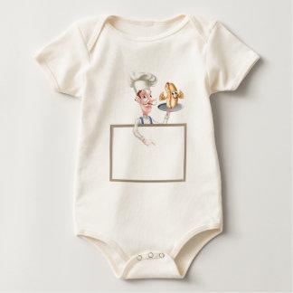 Body Para Bebê Quadro indicador do cozinheiro chefe dos desenhos