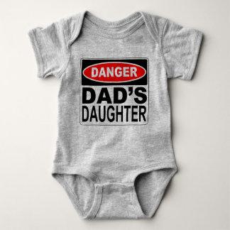 Body Para Bebê Quadro indicador do perigo da filha do pai