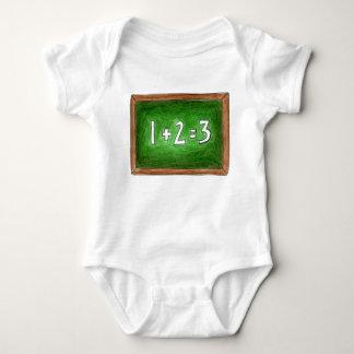 Body Para Bebê Quadro-negro do quadro do professor de 123