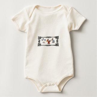 Body Para Bebê quadro triplo do cavalo