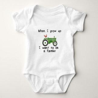 Body Para Bebê Quando eu cresço acima, eu quero ser um fazendeiro