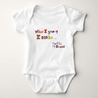 Body Para Bebê Quando eu cresço acima Obama caçoa