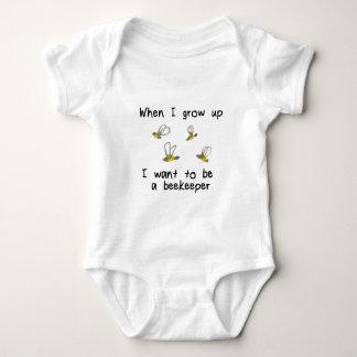 Body Para Bebê Quando eu me cresço acima queira ser um apicultor