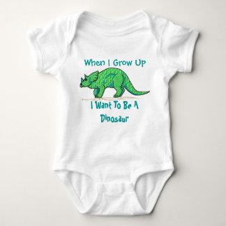 Body Para Bebê Quando eu me cresço acima queira ser um dinossauro