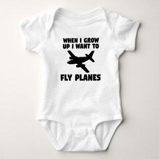 Body Para Bebê Quando eu me cresço acima queira voar planos